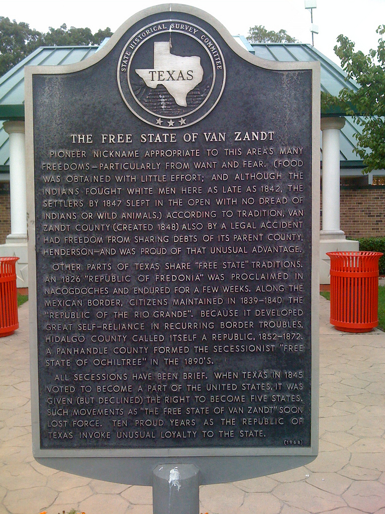 This historic marker can be found at the rest stop on I-20.