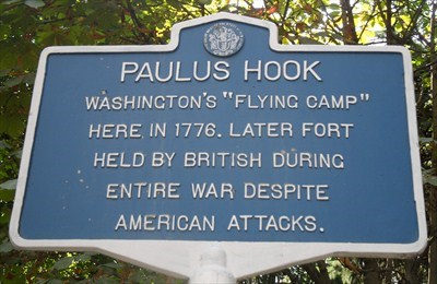 Battle of Paulus Hook historical marker.