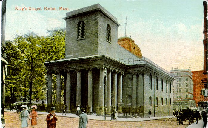 Historic Postcard of Kings Chapel