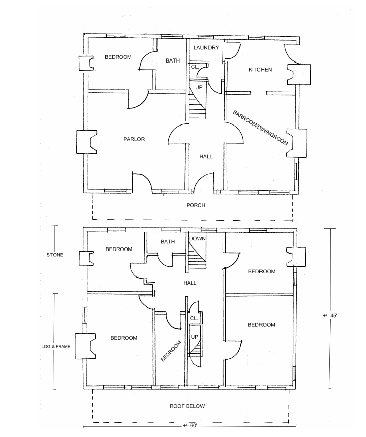 Floorplan of Snodgrass Tavern