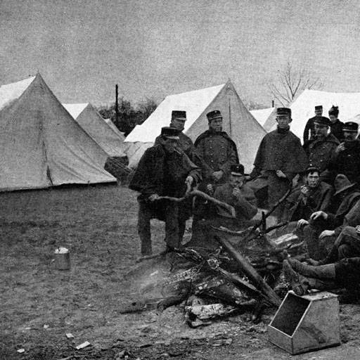 Soldiers at Camp Bushnell