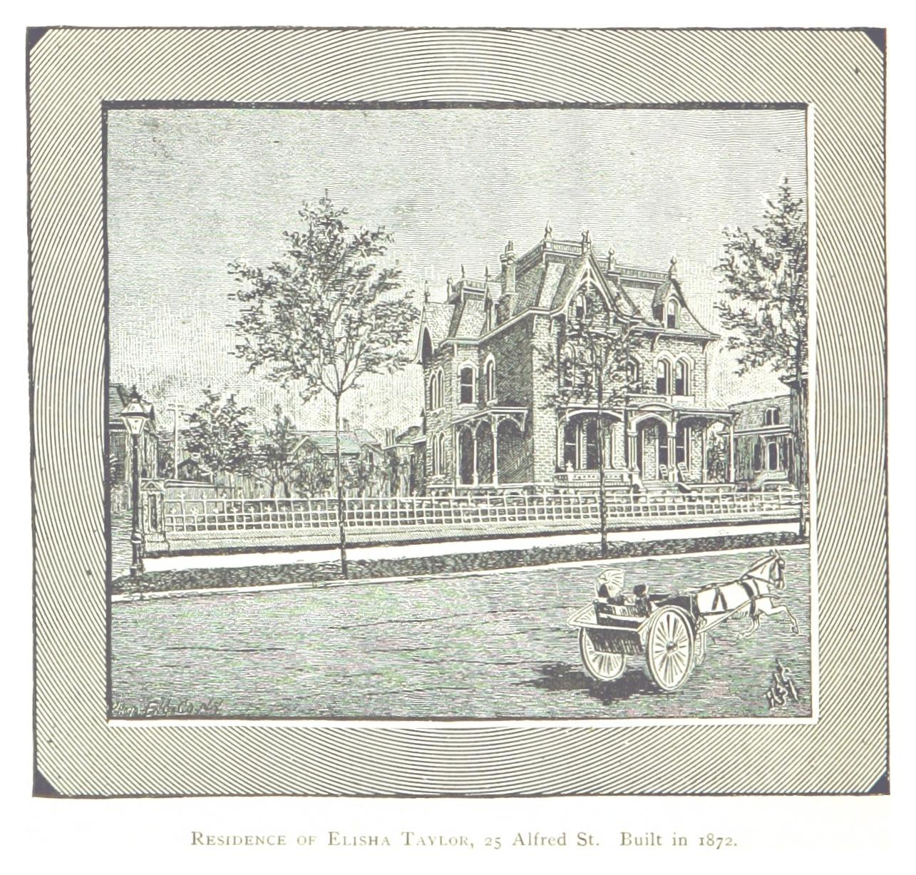 The Elisha Taylor home in 1884