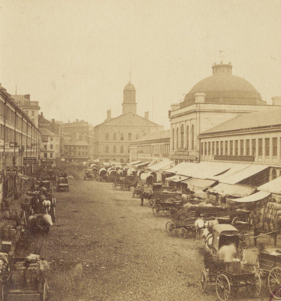 Quincy Market in the 19th century (http://lostnewengland.com/)