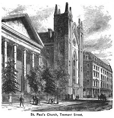 St Paul Cathedral Church 1881 (King's Handbook of Boston, 4th ed. 1881)