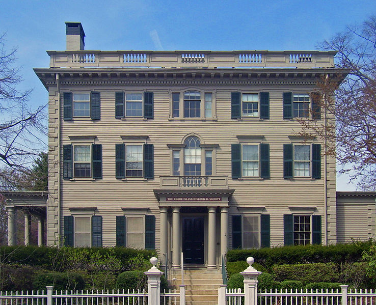 The Aldrich House was built in 1821 and is today the home of the Rhode Island Historical Society.