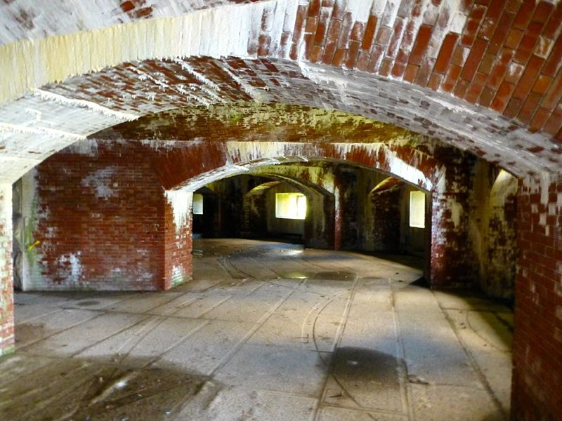 The interior of the fort's eastern bastion