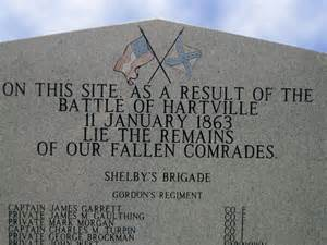 Steele Memorial Cemetery is home to a marker honoring Confederate veterans of the Battle of Hartville. This cemetery is where the remains of the slain soldiers were buried.