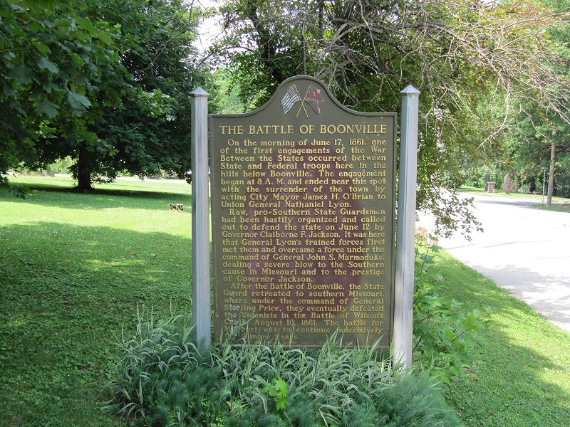 The Battle of Boonville historical marker is located near 1216 East Morgan St.