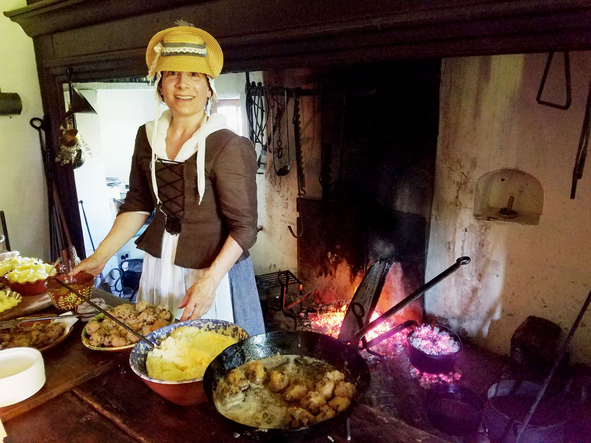 The main tavern today being used to cook historic foods
