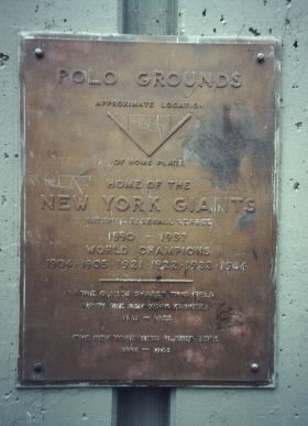 Plaque at the stadium