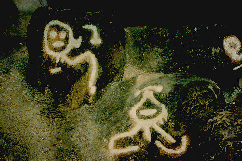 Some of the petroglyphs, which are part of the rituals performed, can be found inside the Indian Cave.