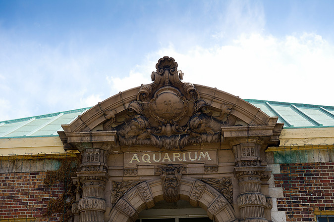 Aquarium's main entrance