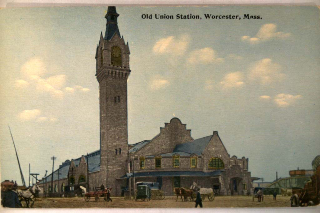 The 1875 Worcester Union Station (image from Wikimedia)
