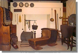 Colonial kitchen exhibit at the Academy building (image from Framingham.com)