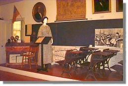 Schoolroom exhibit at the Academy (image from Framingham.com)