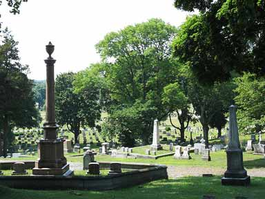 Hope Cemetery grounds (image from Friends of Hope Cemetery)