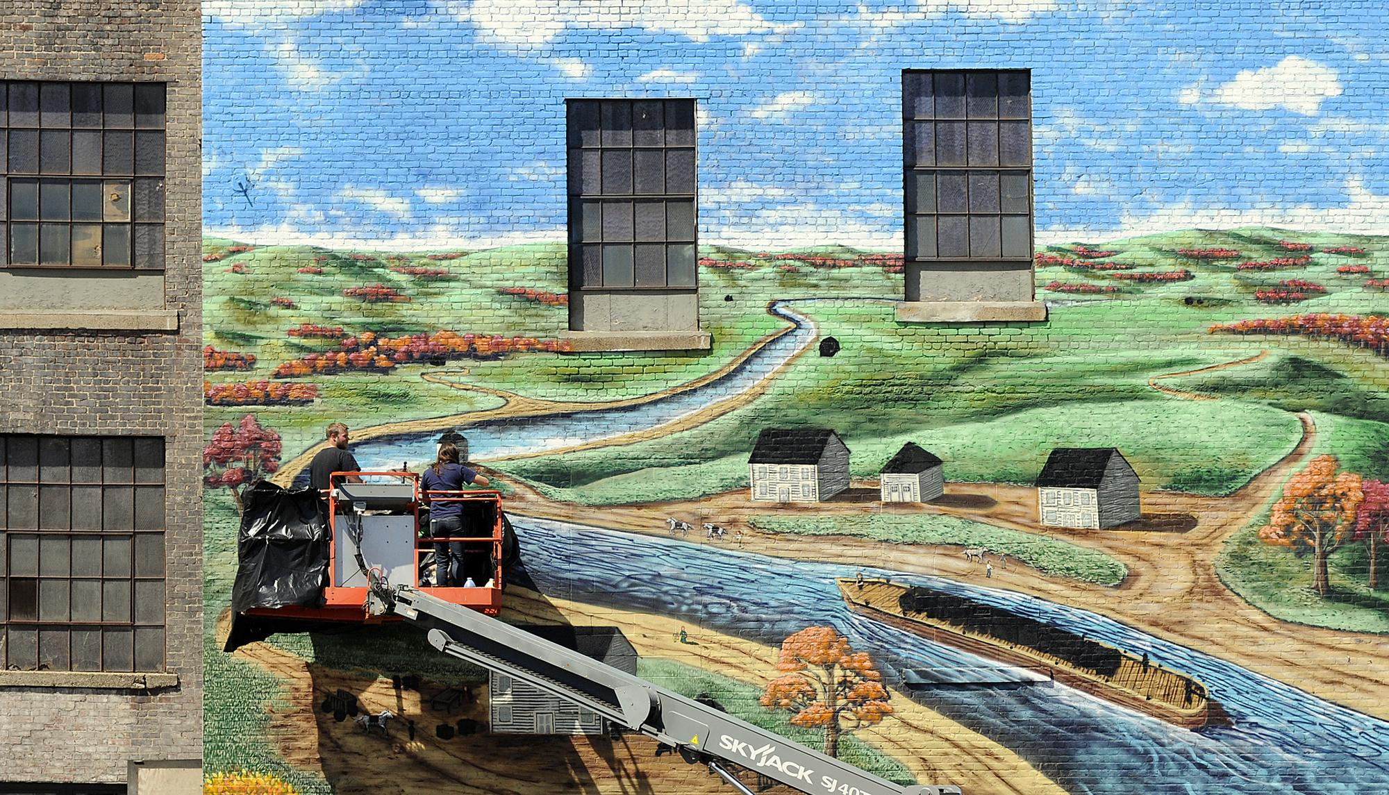 Canal District Mural (image from the Worcester Telegram)