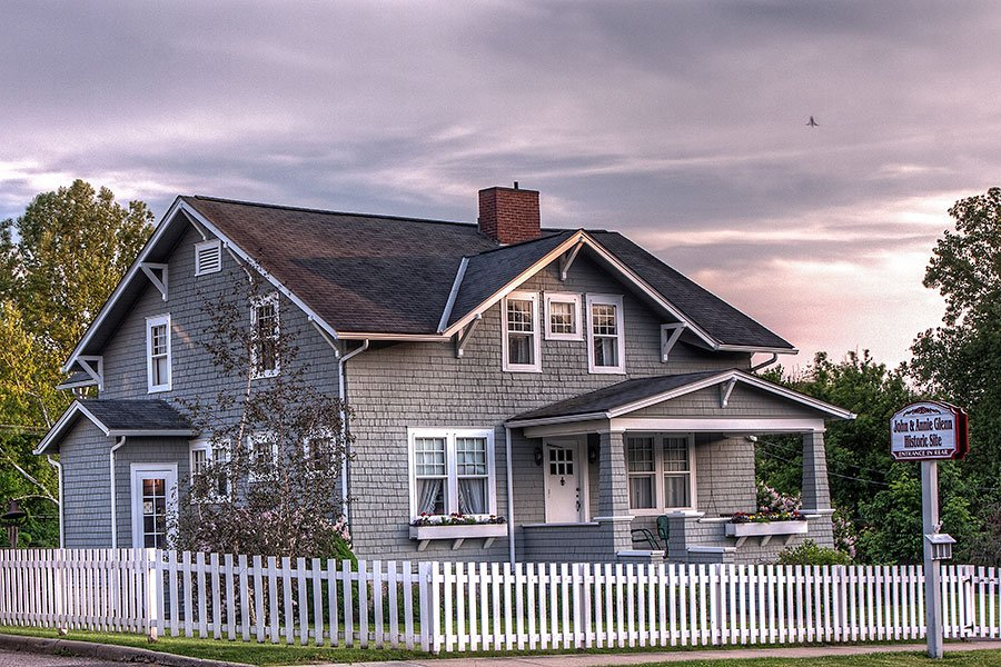The childhood home of John Glenn is now a museum.