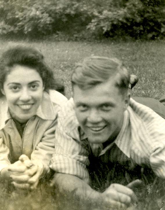 John Glenn with then longtime friend Annie Casto