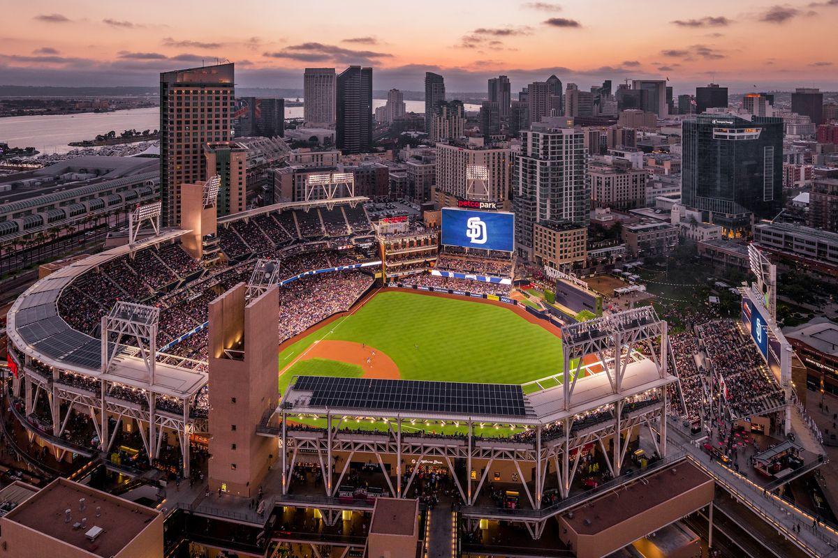 Air view of Petco Park