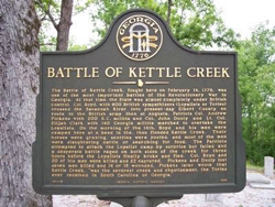 The Battle of Kettle Creek historical marker.