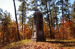 This nearby monument was created in 1930 to honor the Americans who fought at Kettle Creek.