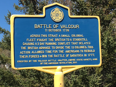 Battle of Valcour Island historical marker.