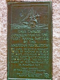This plaque was dedicated in 1927 and can be found on the lawn of the Washington County Courthouse.