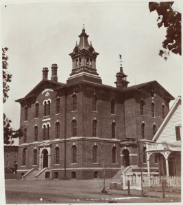 "Denver's first ""East High"" replaced this school, which was built in 1873, Known as the ""Arapahoe School, it was located at 17th and Arapahoe Street and was used as a school until the building was sold in 1882."