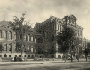 """Old"" East High School served the city from 1889 to 1925 when it was demolished following the completion of the present East High."