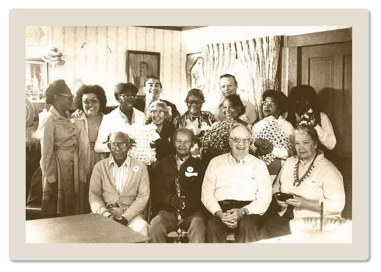 This photo was taken during the 1980s when the Haskell House hosted a free meal program for seniors.