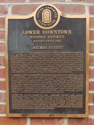 Larimer Street Historic Marker (image from Historic Marker Database)