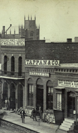 Larimer Street by William Gunnison Chamberlain, 1866 (image from Larimer Square official website)
