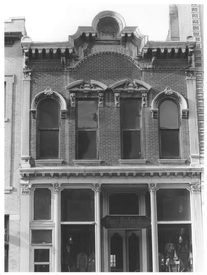 The Crawford Building on Larimer Street, photographed by Kathy Renner, 1973 (image from NRHP)