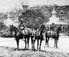 Rough Riders at the hotel, where they encamped, before heading off to Cuba during the Spanish-American War