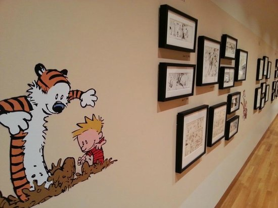 """Calvin and Hobbes"" strips in the Bill Watterson Collection from ""Treasures from the Collections."""