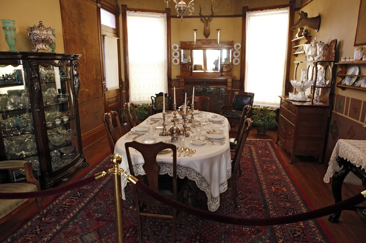 The dining room within the Molly Brown House Museum.