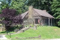 Ritter Park Log Cabin.