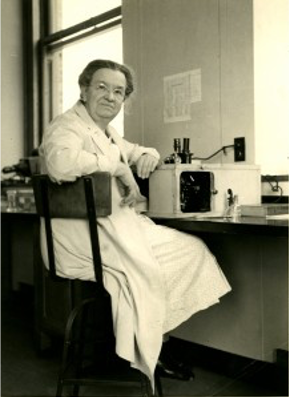 Florence Seibert pictured in a lab in her older years as she continued to do work.