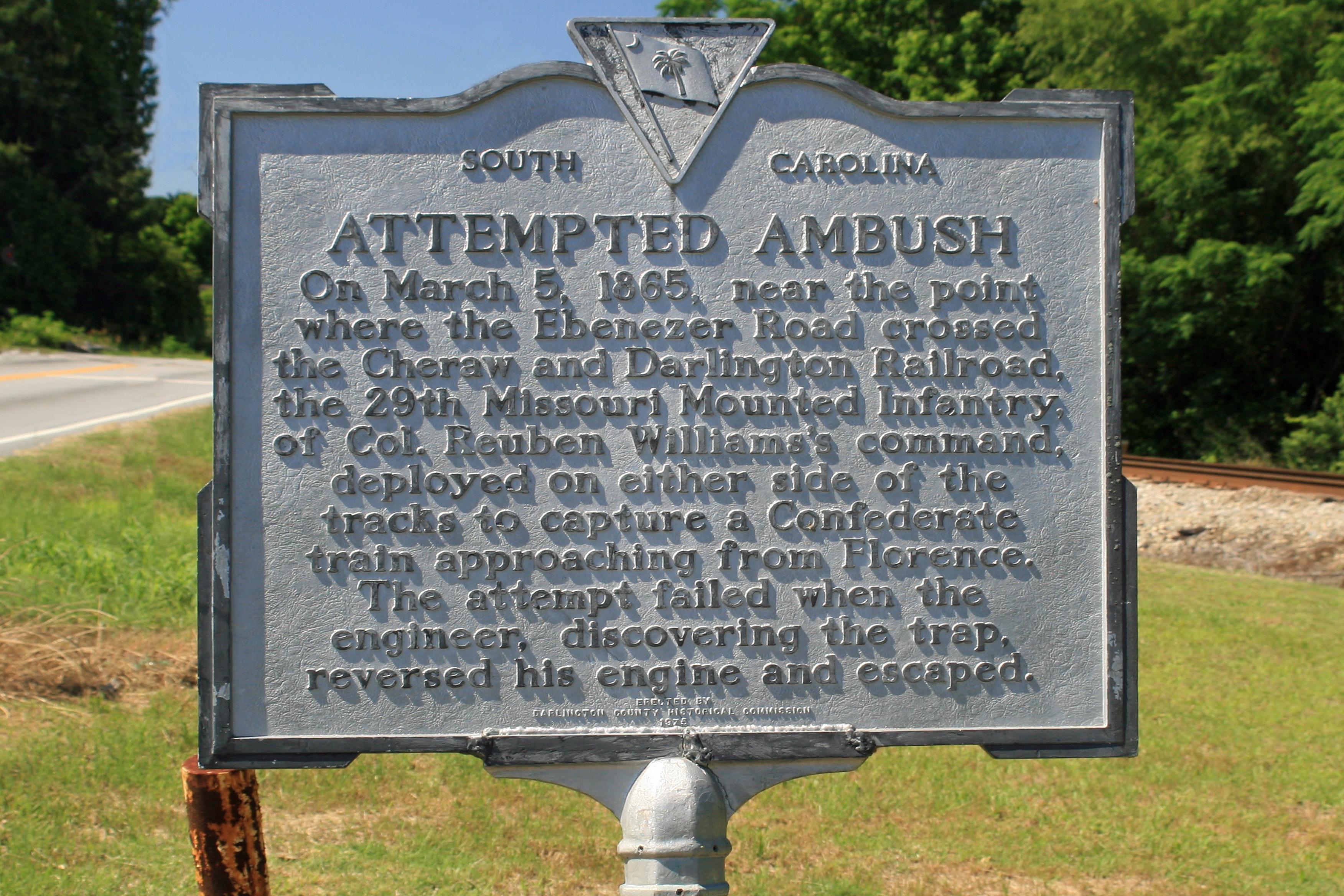 Attempted Ambush Historical Marker