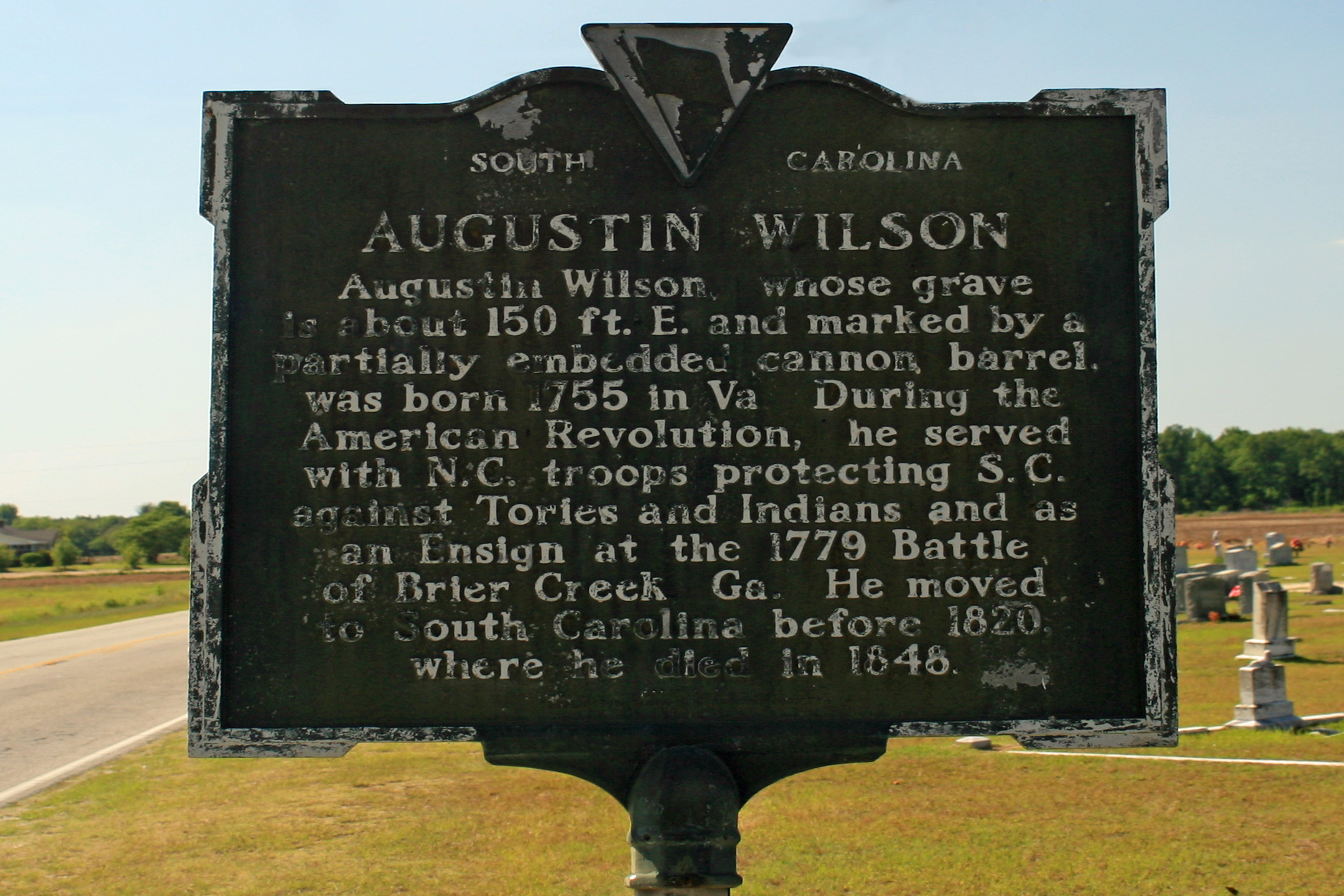 Augustin Wilson Erected by Darlington County Historical Society - 1976