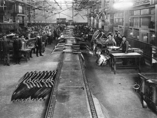 The assembly line at Highland Park