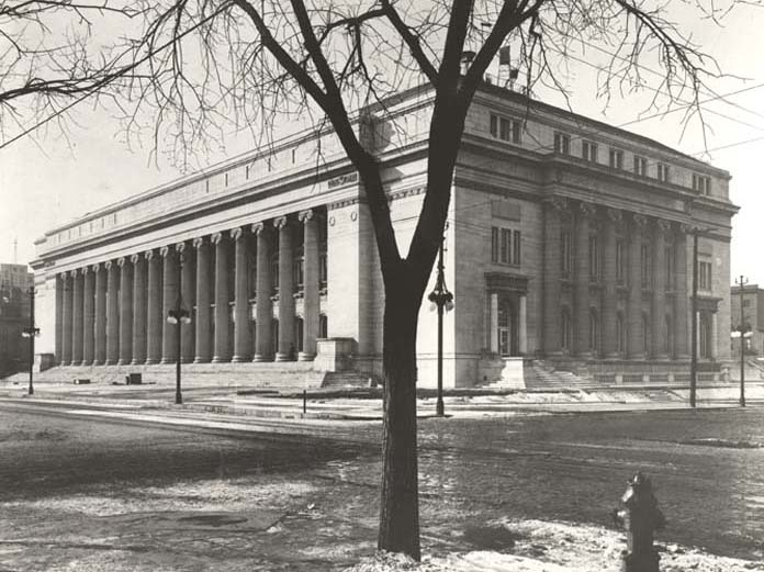 Byron White Courthouse in Denver shortly after its completion 1916.
