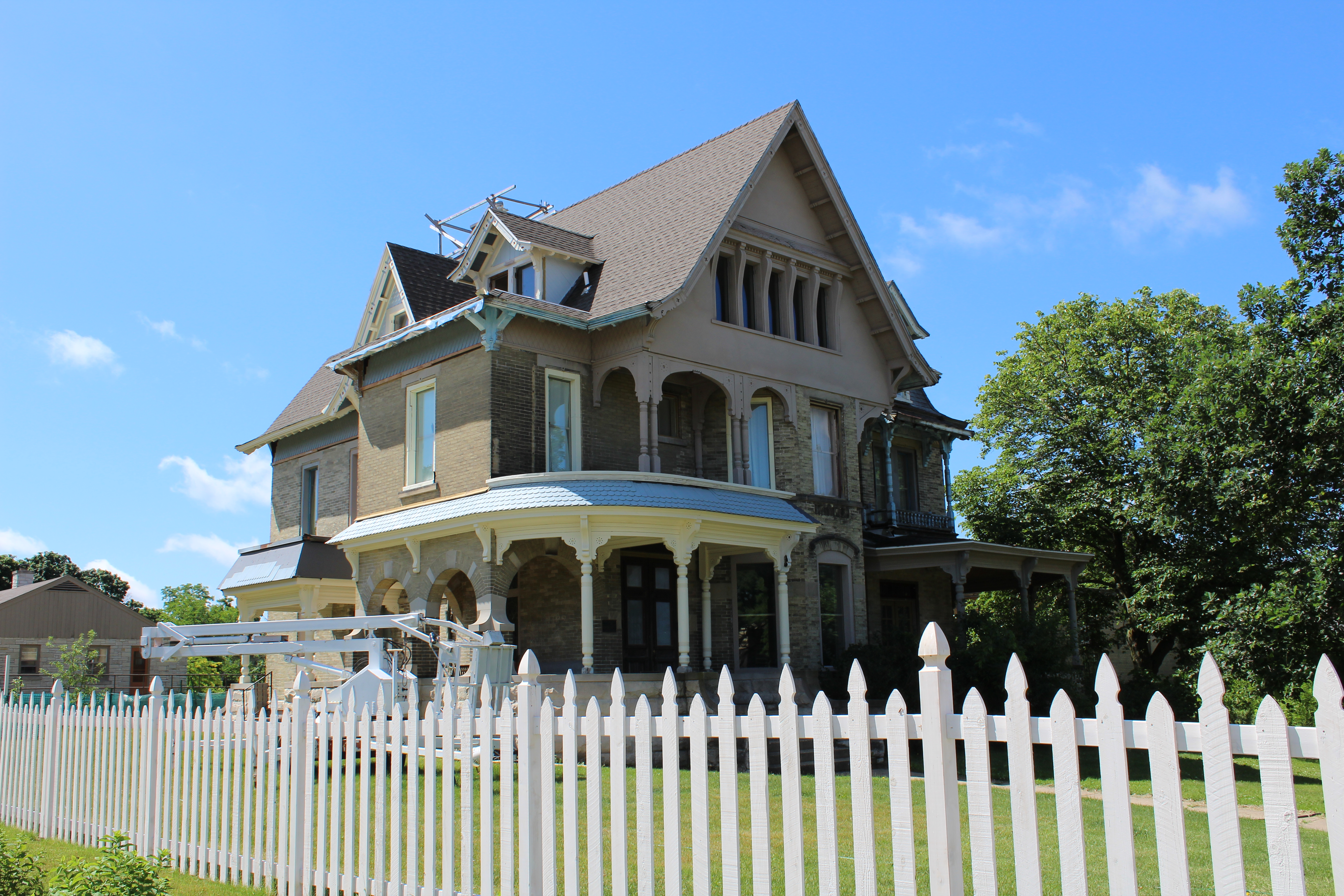 The house as it looks today, currently under restoration.