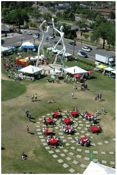 DPAC's Sculpture Garden (image from DPAC)