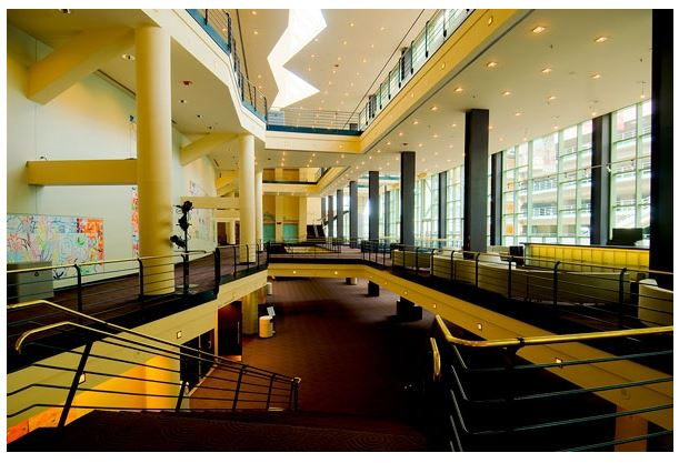 Lobby of the Temple Hoyne Buell Theatre (image from DPAC)