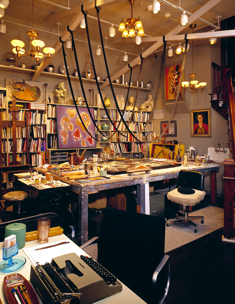 The studio's workroom (image from the Kirkland Museum)