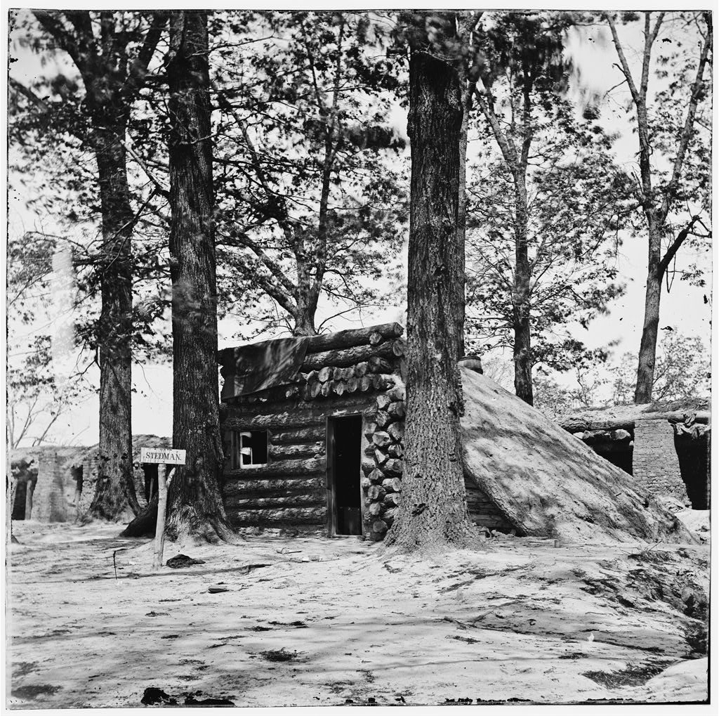 A photo of Fort Stedman as it appeared in 1865