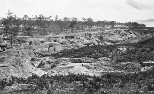 Siege lines around Fort Stedman, circa 1864-1865