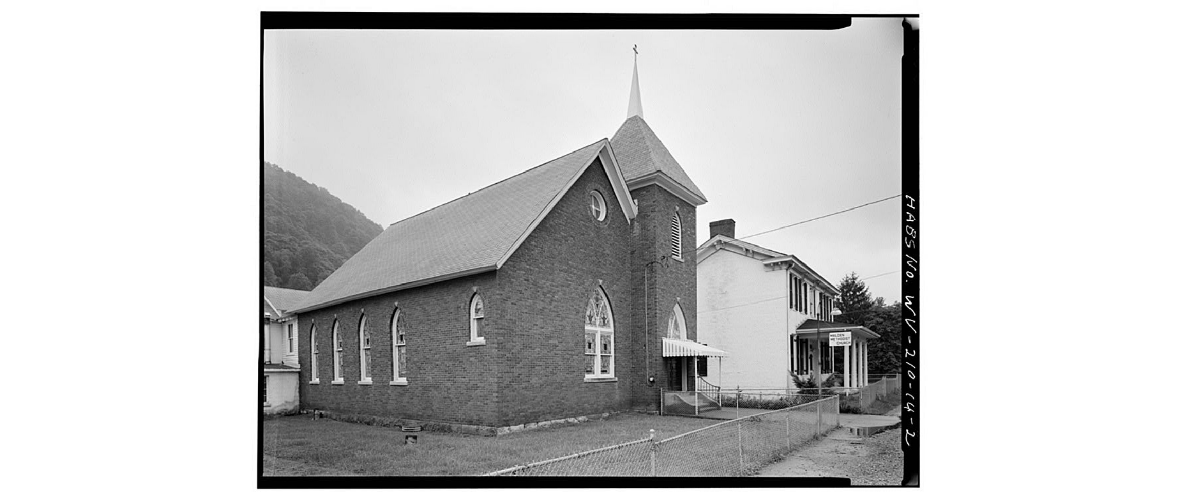Malden Methodist Church, from northwest, circa 1980